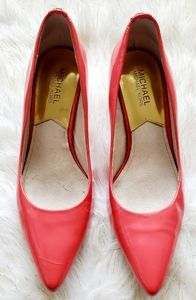 Michael Kors pink patent leather pointy-toe heels